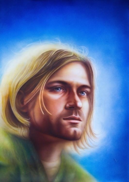 Kurt Cobain - traditionalart, aerography - dmytrivmax | ello