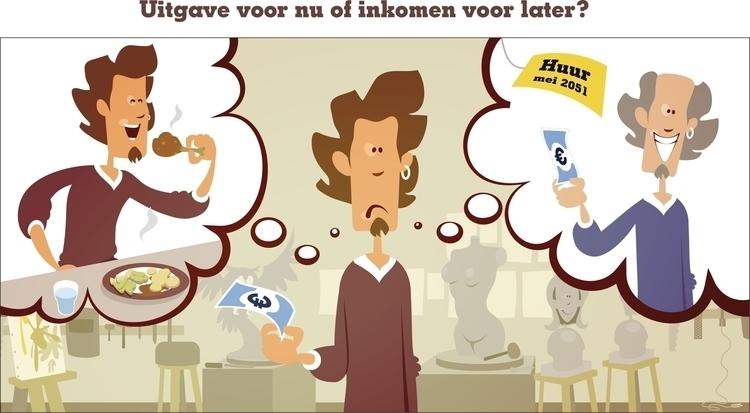 illustration artists pension - penion - jurjenkraan | ello