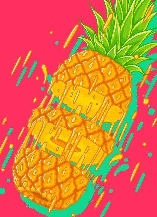 Pinapple - pinapple, modern, art - alexmorris1 | ello