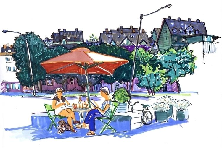 tallinn, travel, sketch, cafe - naktisart | ello