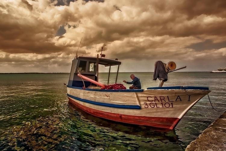 man sea - photography, photoshop - pierocefaloni | ello