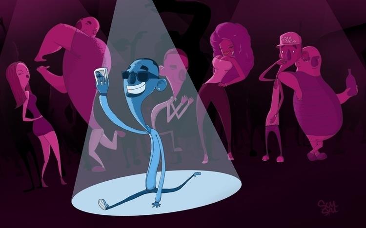 Party Rock - illustration, dance - isra-9532   ello