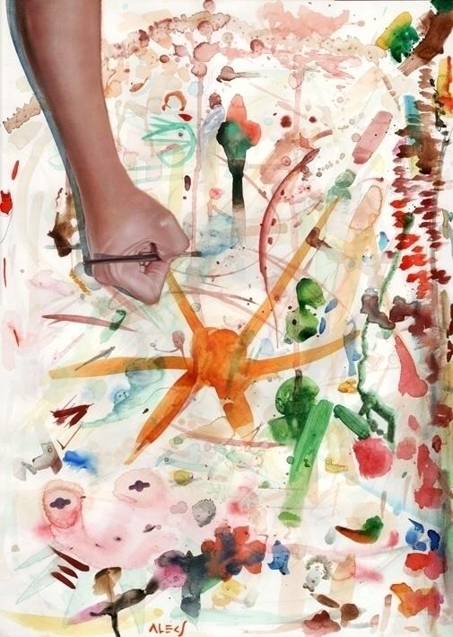 Subconscious - painting, watercolor - alecs-1191 | ello