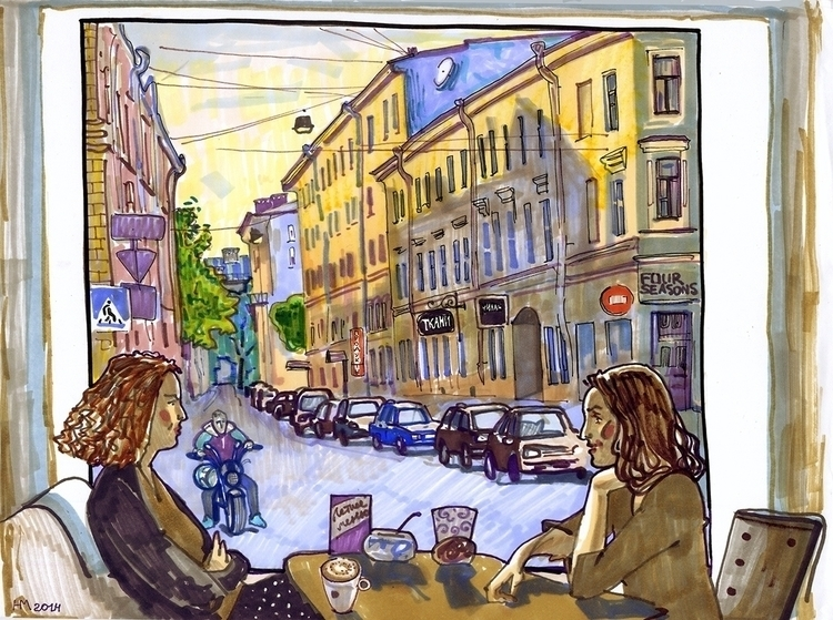 saint-petersburg, city, cafe - naktisart | ello