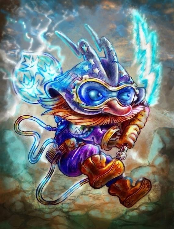 Gnom_Thunder-Whip - illustration - nogui-5722 | ello