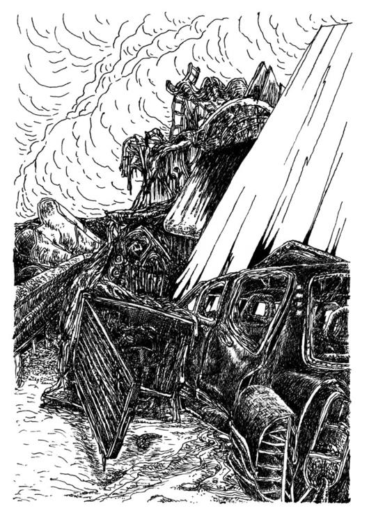 black car - drawing - stephanemercier | ello