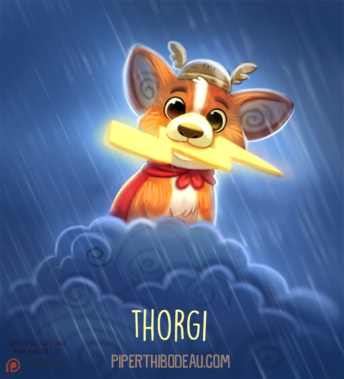 Daily Paint 1536. Thorgi - piperthibodeau | ello