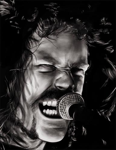 James Hetfield - painting, illustration - alecs-1191 | ello