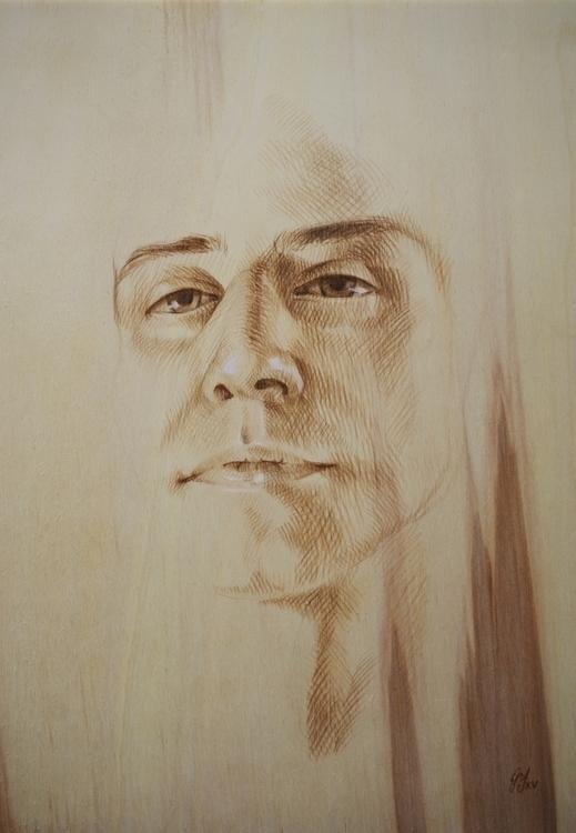 Brown charcoal wood - drawing, portrait - giuliafederici | ello
