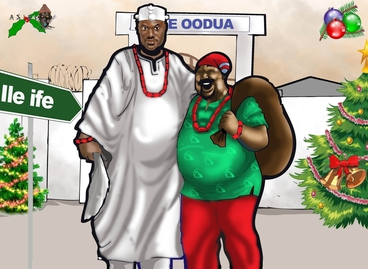 Ooni Ife Pa Jay - illustration - sunnyefemena   ello