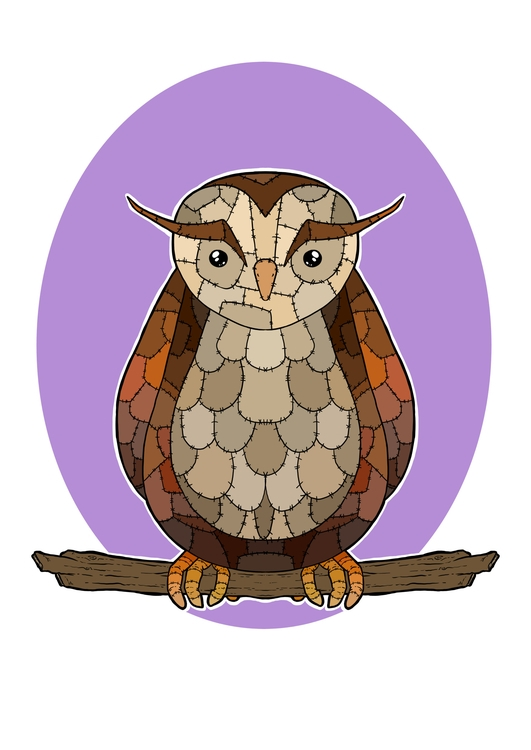 Patchwork Owl - Print design co - zita-3948   ello