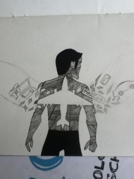 start modern 'Icarus' design - illustration - lhyillustration | ello