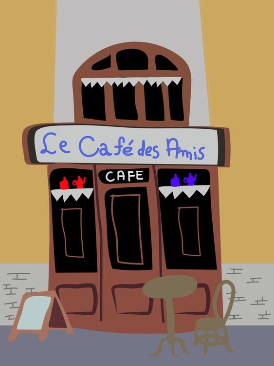 Café dos Amigos - illustration, conceptart - rockstar-5096 | ello