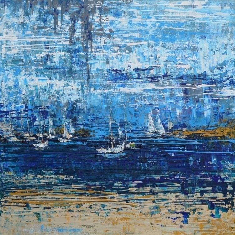 Riviera 120x120 Acrylic canvas - tanya_vasilenko | ello