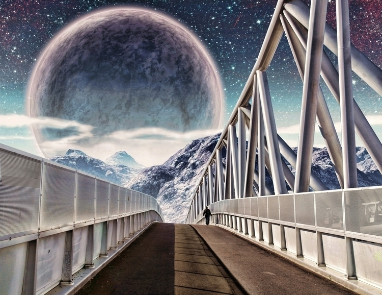 Bridge - digitalart, art, surrealism - tkr3sh | ello