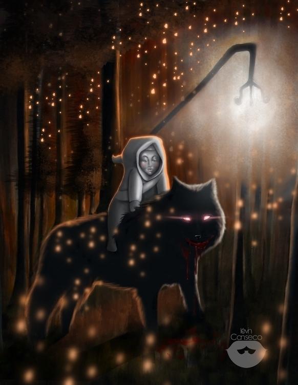 niña lobo - digitalart, traditionalart - cansecokevin | ello