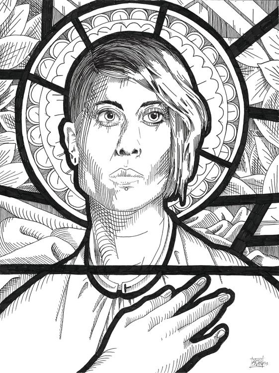 (Saint Tegan) Micron pen Bristo - jamesdortchart | ello