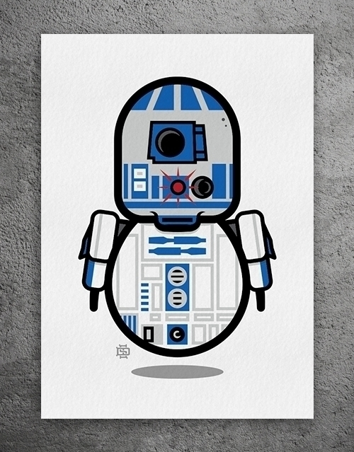 R2-DUDE2 LImited Edition Giclee - 6gun | ello