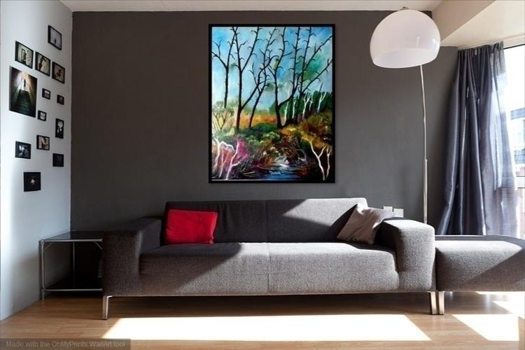 Oil canvas. Large Format - landscape - pdingley | ello
