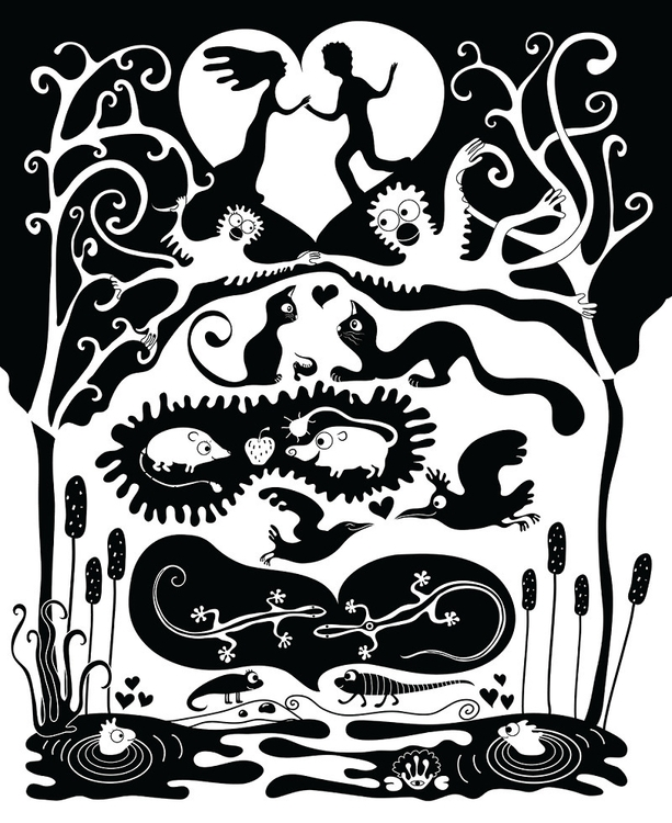 love evolution - illustration, vector - ololonycolophony   ello