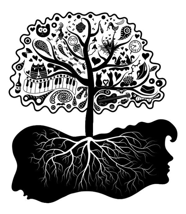 love tree - illustration, vector - ololonycolophony | ello