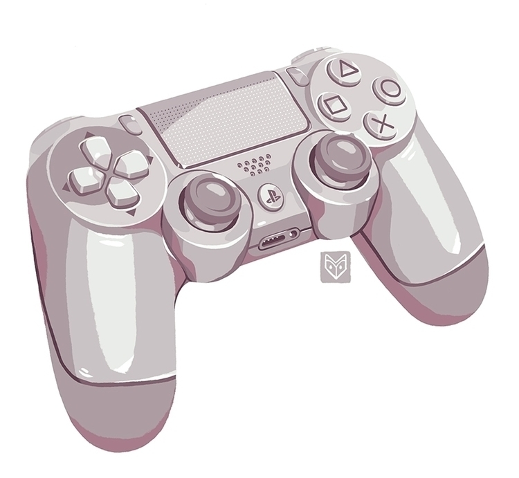 Platinum gamepad - illustration - elinanovak | ello