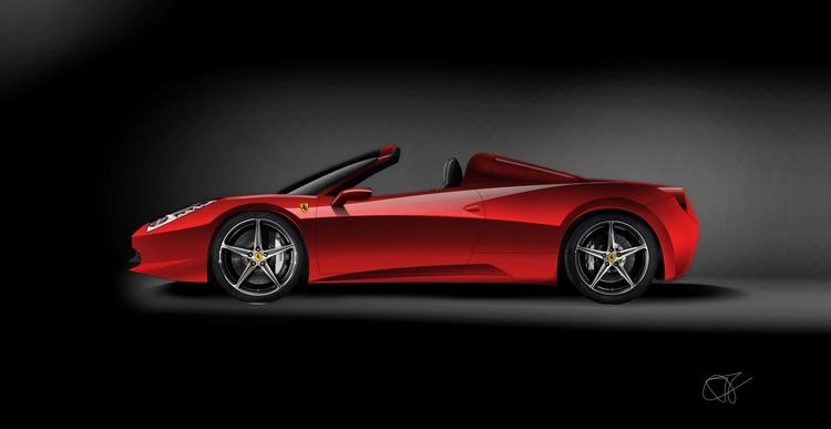 Render Ferrari 458 Italia Spyde - dijkstrajorn | ello