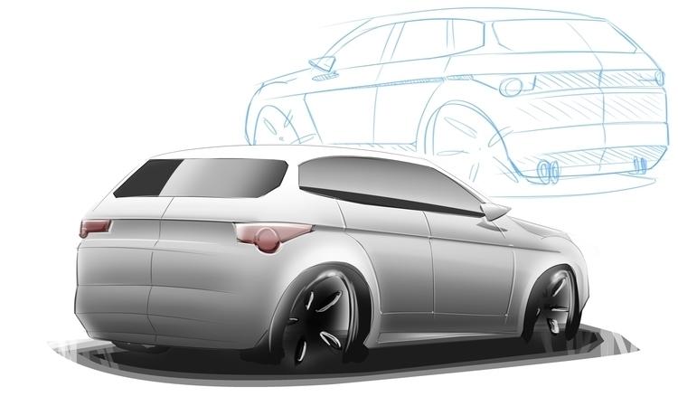 SUV line sketch + render. Sketc - dijkstrajorn | ello