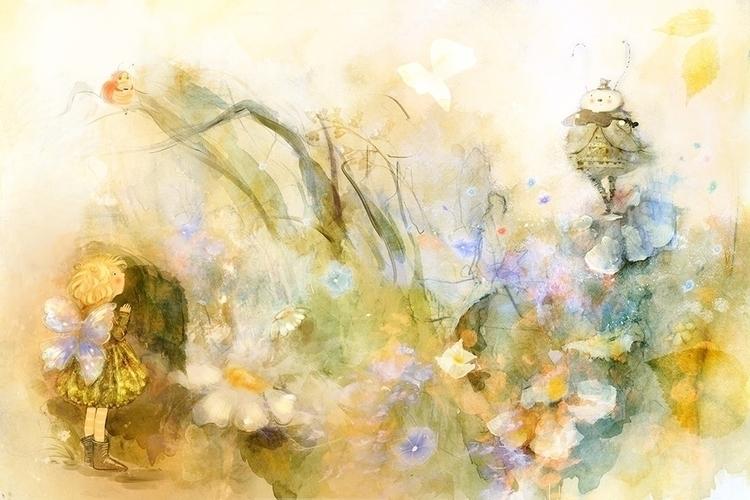 lullaby grasshopper.2 - illustration - smokepaint | ello