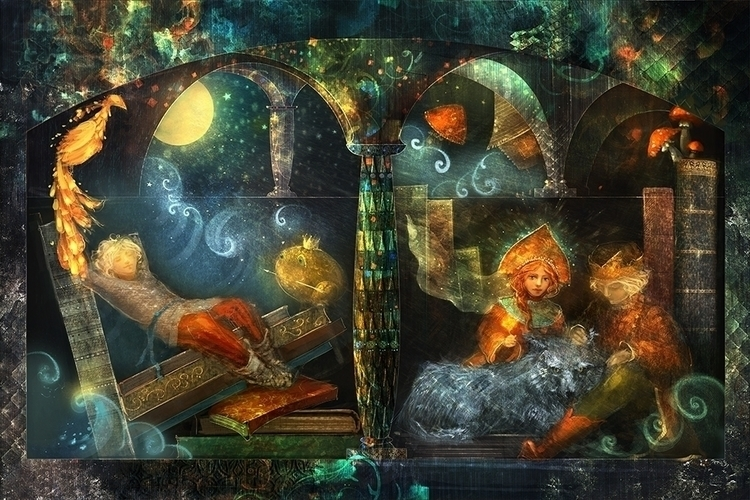dreams fairy tales - illustration - smokepaint | ello