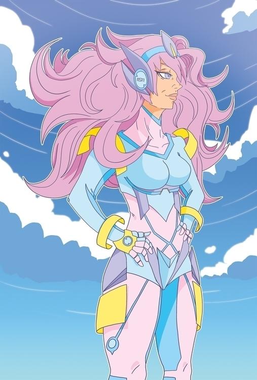Violet hair future! character g - doodles-4576 | ello