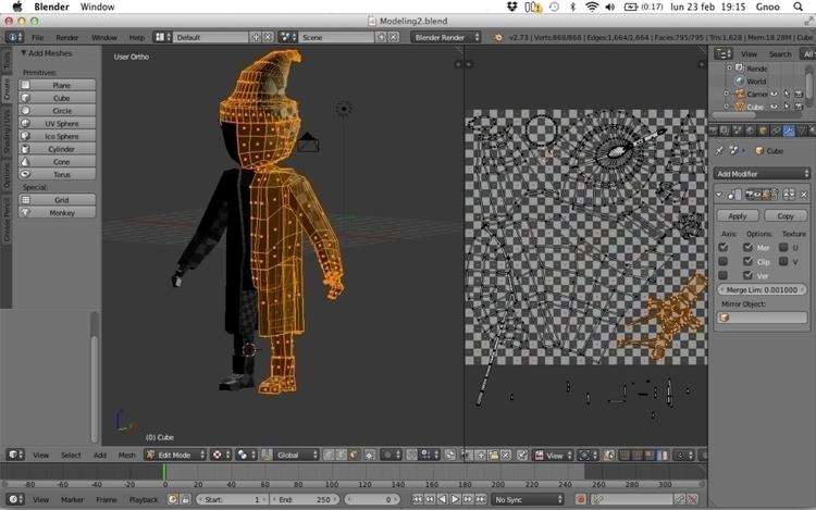 Character Modeling phase 2 (mod - h3ml0ck   ello