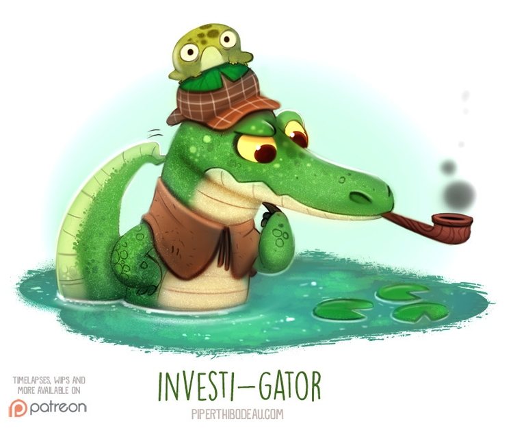 Daily Paint 1541. Investi-gator - piperthibodeau | ello