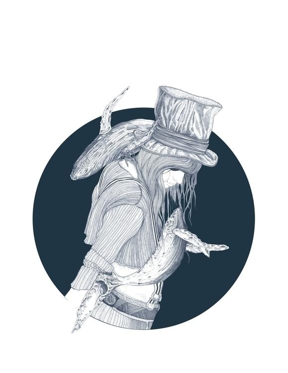 Dance whales - illustration, characterdesign - samuelguillotel | ello