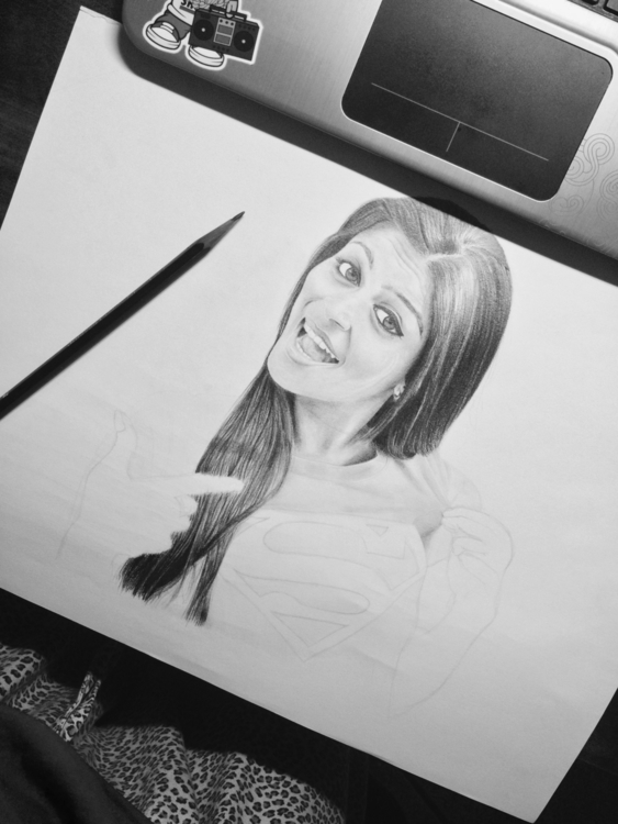 Progress Shot Youtuber Superwom - melissacookart | ello