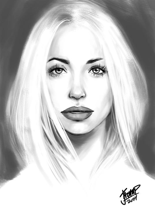 Rita Ora Portrait - painting, portrait - jaisamp | ello