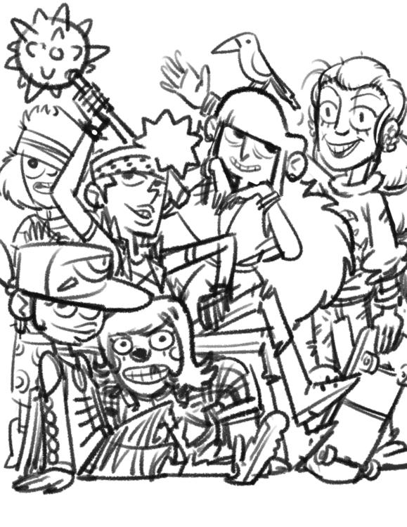 Hodag cabin kids - characterdesign - camperjon | ello