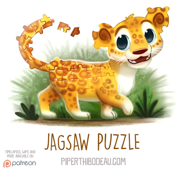 Daily Paint 1543. Jagsaw Puzzle - piperthibodeau | ello