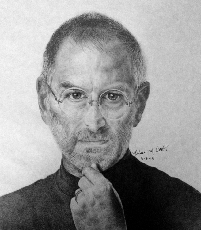 Steve Jobs portrait drawing (ch - melissacookart | ello