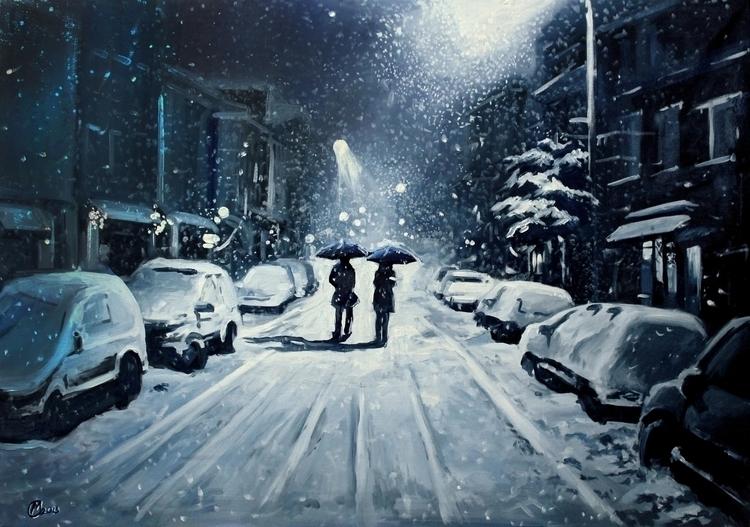 evening, friend - snow, winter, snowing - lanamarandina | ello