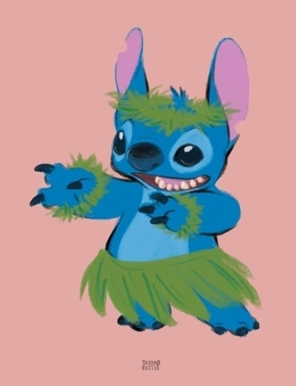 Hula Stitch - disney, stitch, hula - jaisamp | ello