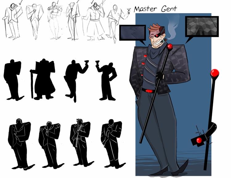 skate park villain - characterdesign - rem-7093   ello