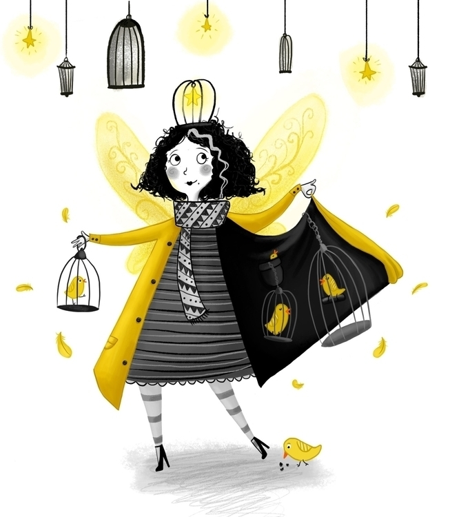 Canary Fairy - yellow, canary, fairy - illustratelucy | ello