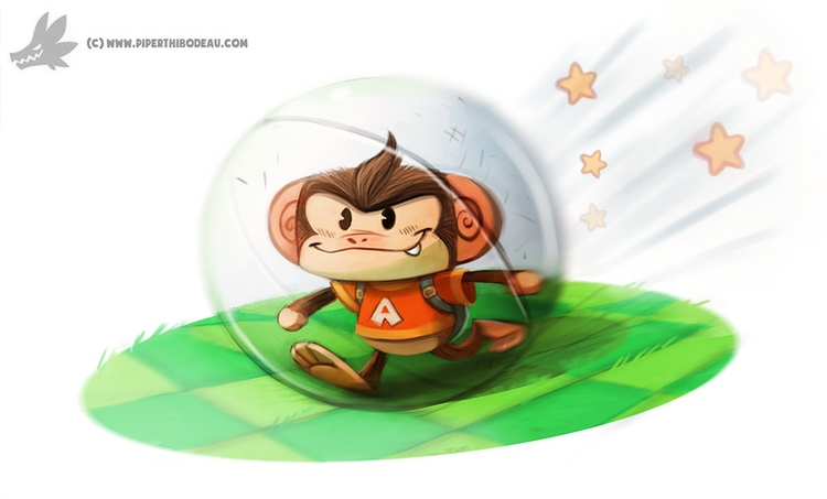 Daily Painting Super Monkey Bal - piperthibodeau | ello