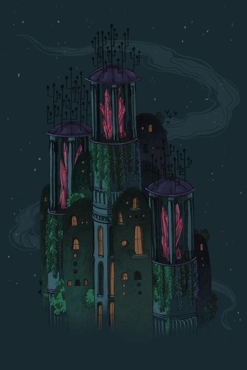 Nightlife - illustration, environment - abby_williams | ello