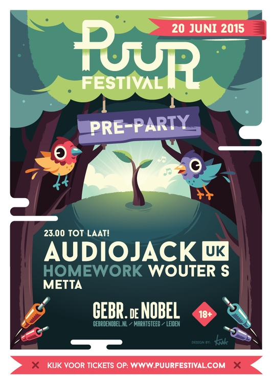 Puur Festival ''Pre-Party - illustration - knak-1575 | ello