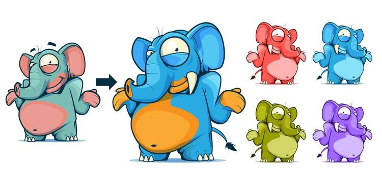 Elephant game design - animal, elephant - pixelkaiju | ello