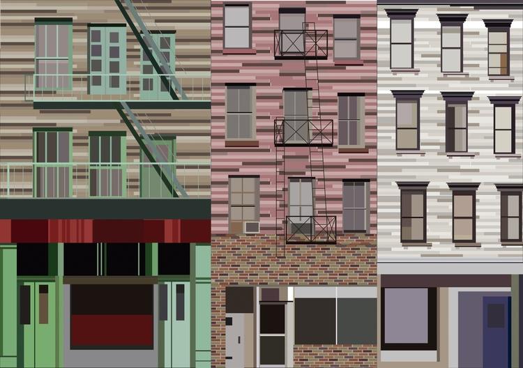 windows nyc buildings - illustration - grafika-5226   ello