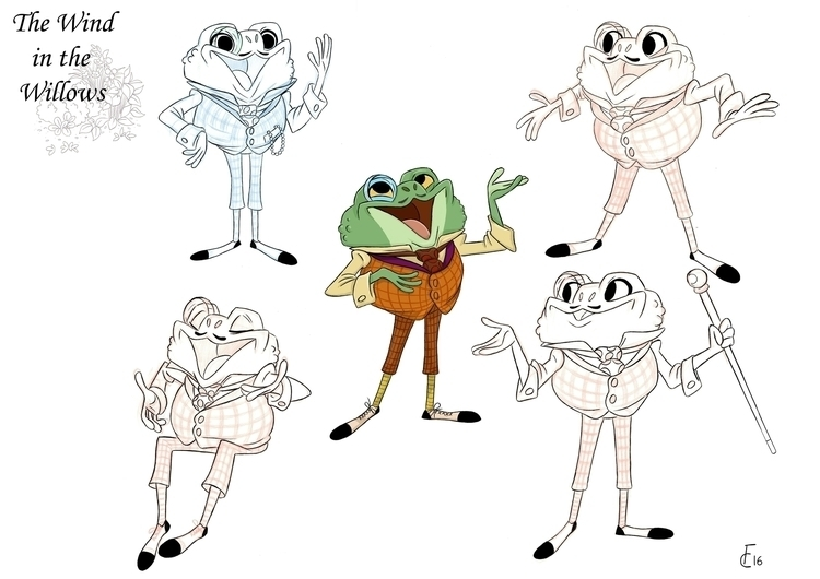 Toad Wind Willows - characterdesign - finbarcoyle | ello