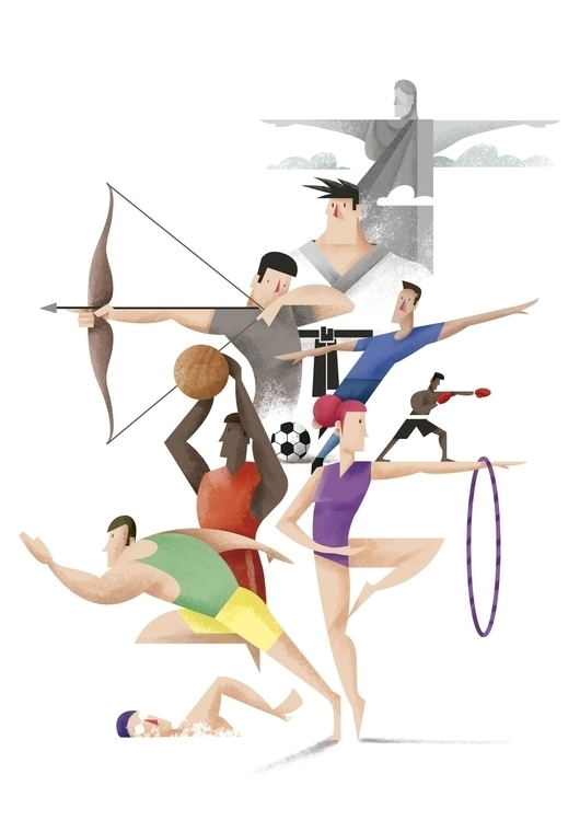 Illustration 2016 Olympic Games - rodrigocordeiro | ello